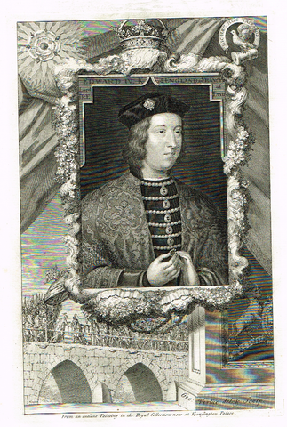 "Rapin's Kings of England - ""EDWARD IV"" - Copper Engraving - 1732"