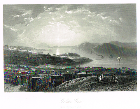"Picturesque America's ""GOLDEN GATE"" - Steel Engraving - 1872"