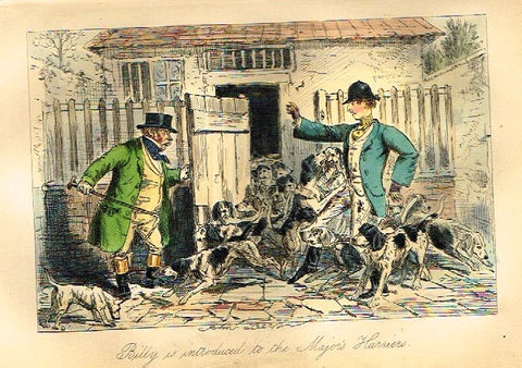 "Antique John Leech Satire Print - ""BILLY IS INTRODUCED"" - H. Col Litho - 1872"