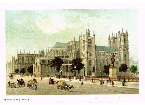 "Nelson's ""WESTMINSTER ABBEY"" - Miniature Chromolithograph - 1889"