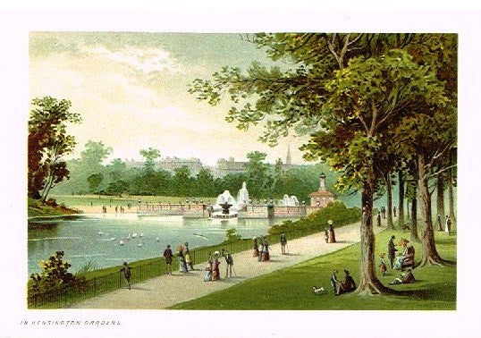 "Nelson's ""THE KENSINGTON GARDENS"" - Miniature Chromolithograph - 1889"