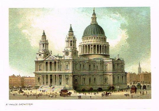 "Nelson's ""ST. PAUL'S CATHEDRAL"" - Miniature Chromolithograph - 1889"