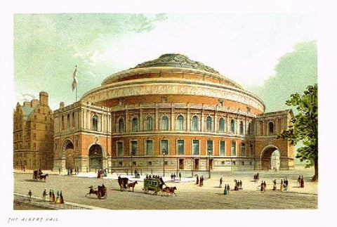 "Nelson's ""THE ALBERT HALL"" - Miniature Chromolithograph - 1889"