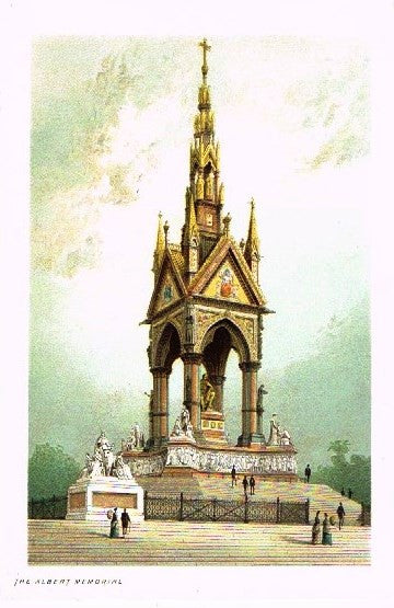 "Nelson's ""THE ALBERT MEMORIAL"" - Miniature Chromolithograph - 1889"