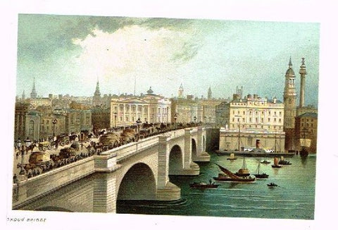"Nelson's ""LONDON BRIDGE"" - Miniature Chromolithograph - 1889"