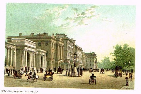 "Nelson's ""HYDE PARK CORNER - PICCADILLY"" - Miniature Chromolithograph - 1889"