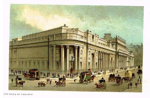 "Nelson's ""THE BANK OF ENGLAND"" - Miniature Chromolithograph - 1889"