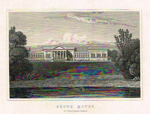 "Dugdale's Engand & Wales Delineated - ""STOWE HOUSE"" - Steel Engraving -c1840"
