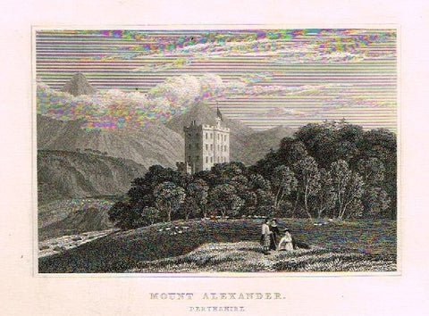 "Dugdale's Engand & Wales Delineated - ""MOUNT ALEXANDER"" - Steel Engraving -c1840"