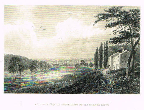 "Art Journal  1875 Steel Engraving ""DISTANT VIEW OF SCHENECTADY"" by Brown"