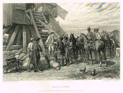 Antique Print - Art Journal's - REQUISITIONED - Engraved by ARMITAGE - 1871