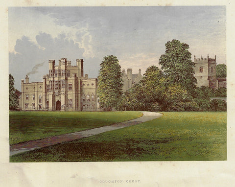 "Morris's County Seats -  ""COUGHTON COURT"" - Chromolithograph - 1866"