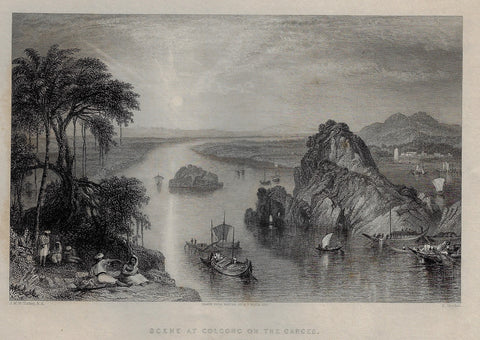 SCENE AT COLCONG ON THE GANGES