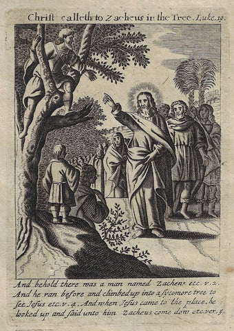 CHRIST CALLETH TO ZACHEUS IN TREE