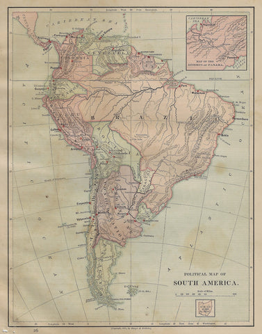 POLITICAL MAP OF S. AMERICA