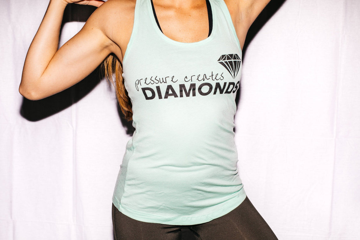 Pressure Creates Diamonds Tanktop- Mint - FitGirls_inspire - 2