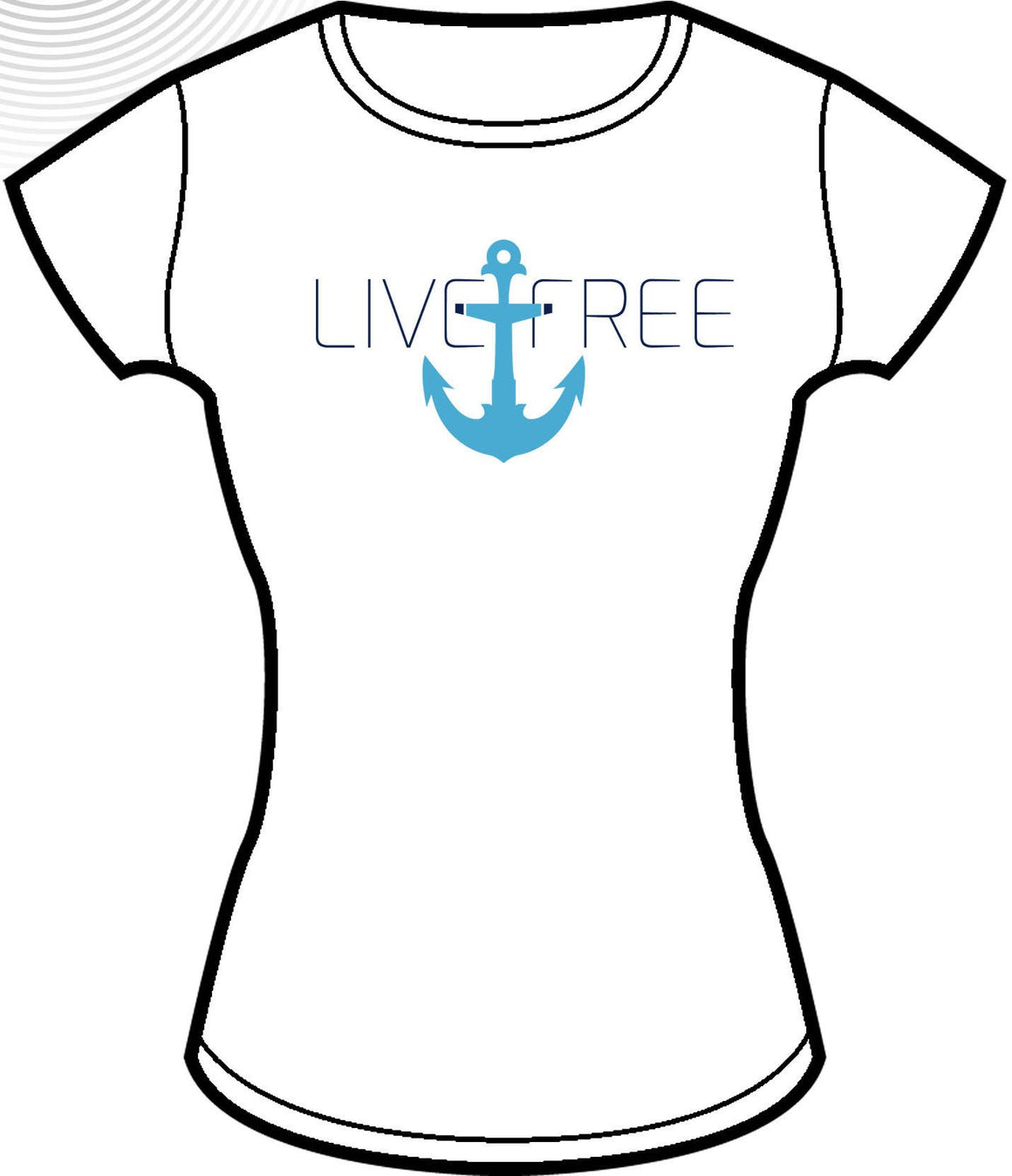 Live Free Anchor Shirt - White - FitGirls_inspire - 4
