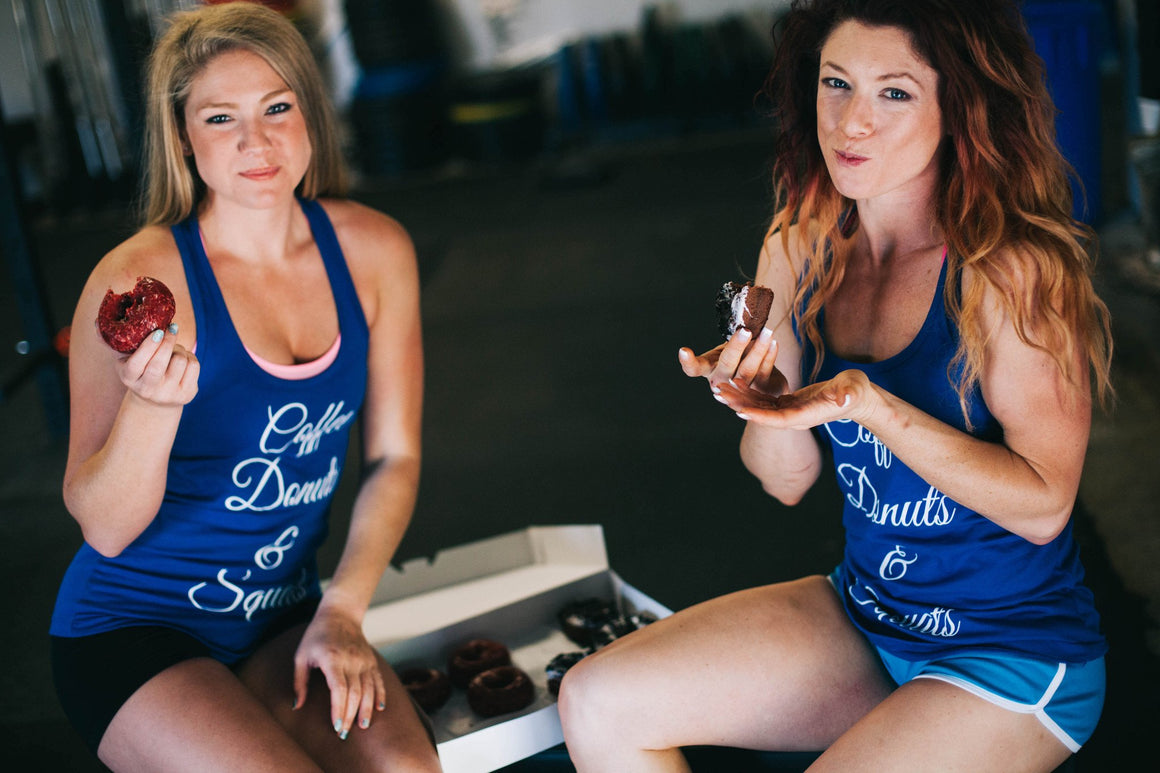 Coffee Donuts & Squats Royal Blue FitGirls Inspire Tanktop