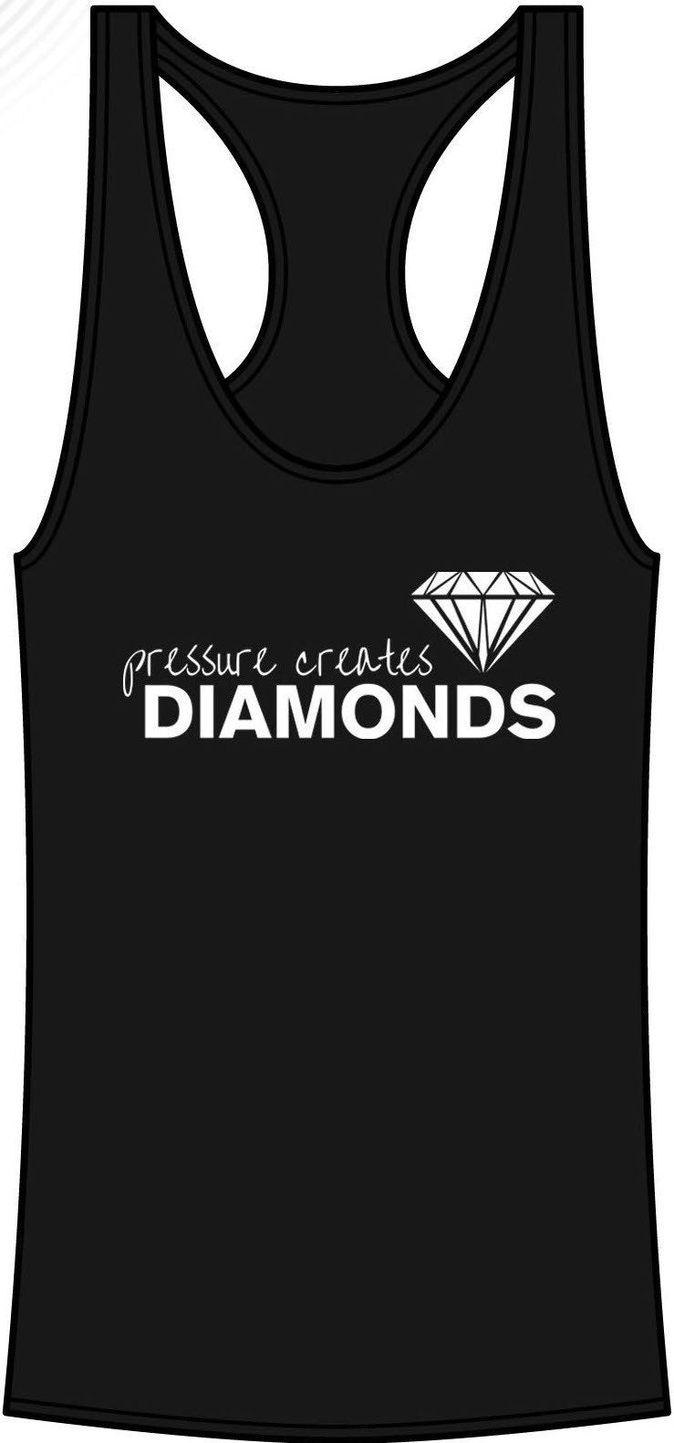 Pressure Creates Diamonds Tanktop- Black - FitGirls_inspire - 2