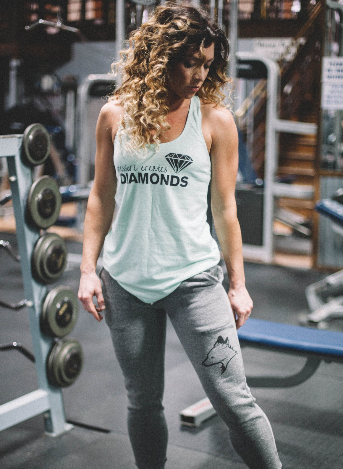 Pressure Creates Diamonds Tanktop- Mint - FitGirls_inspire - 5