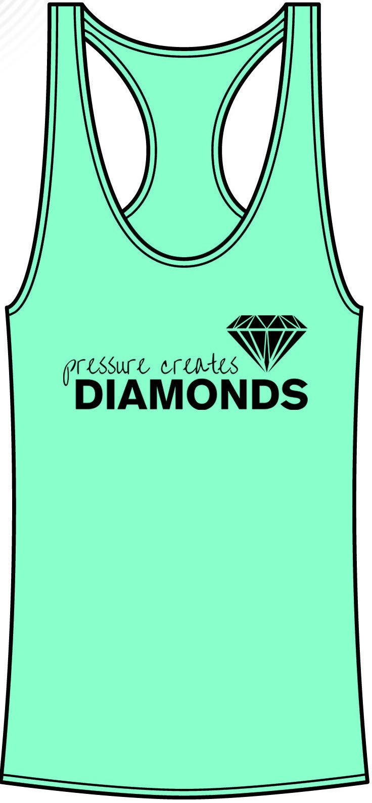 Pressure Creates Diamonds Tanktop- Mint - FitGirls_inspire - 4