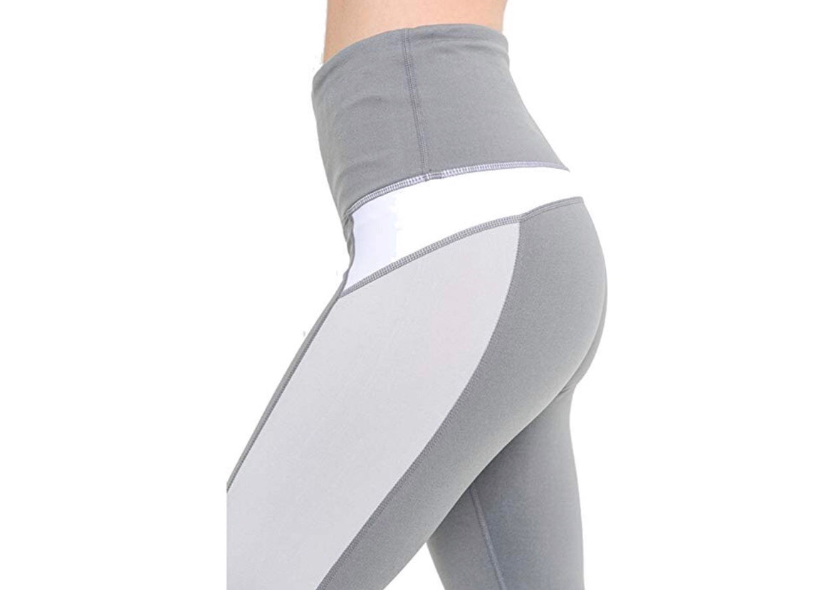 Light Grey Color Block Leggings