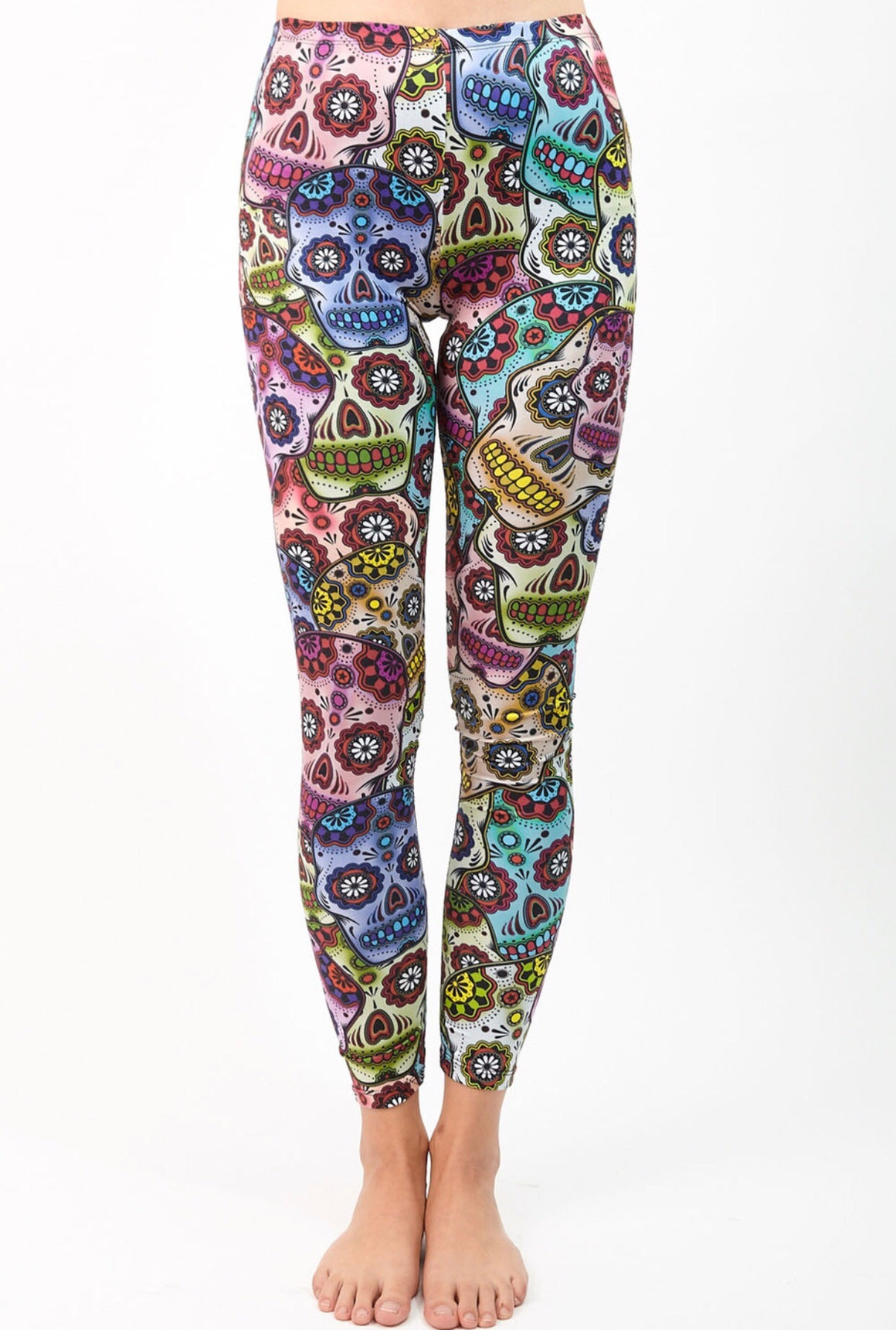 Sugar Skull Full Length Leggings
