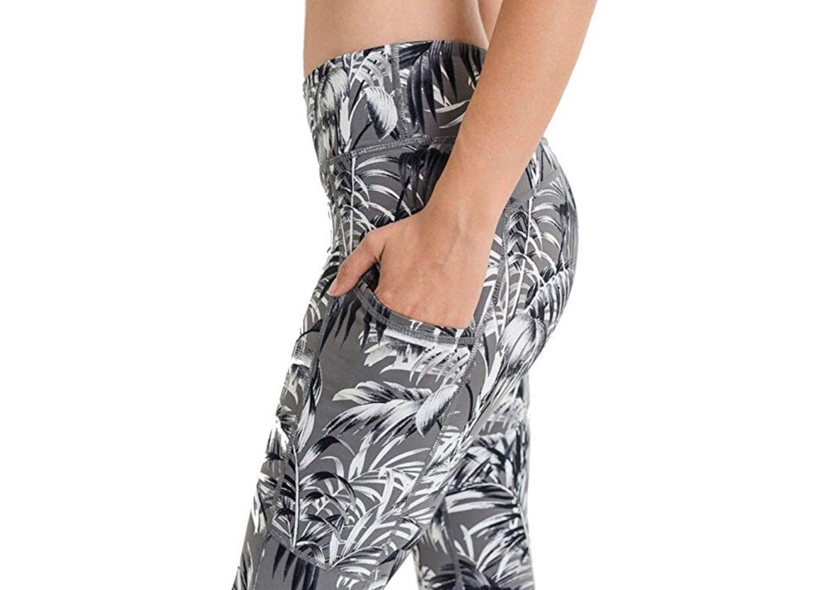 Accent Print Mesh Pocket Leggings