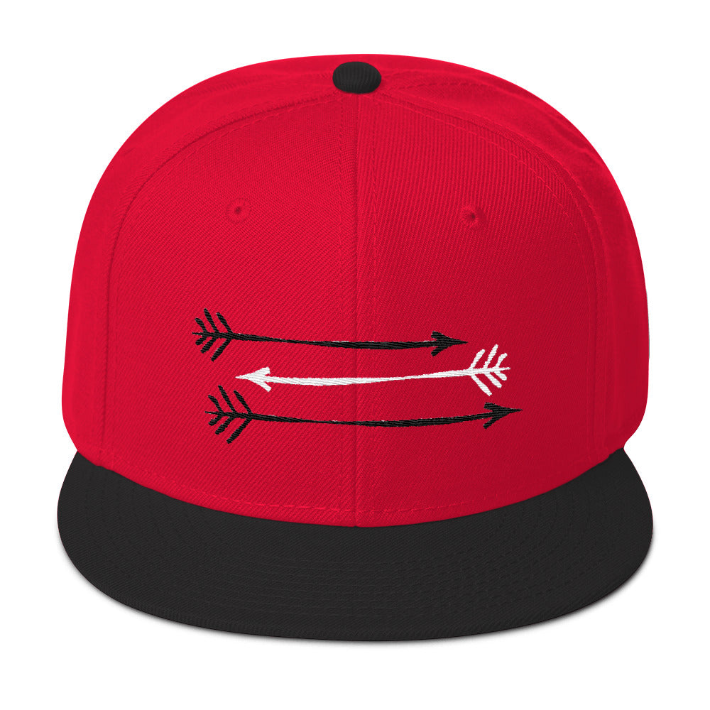 Black Red Snapback Hat 3 Black and White Arrows Fitgirls Inspire