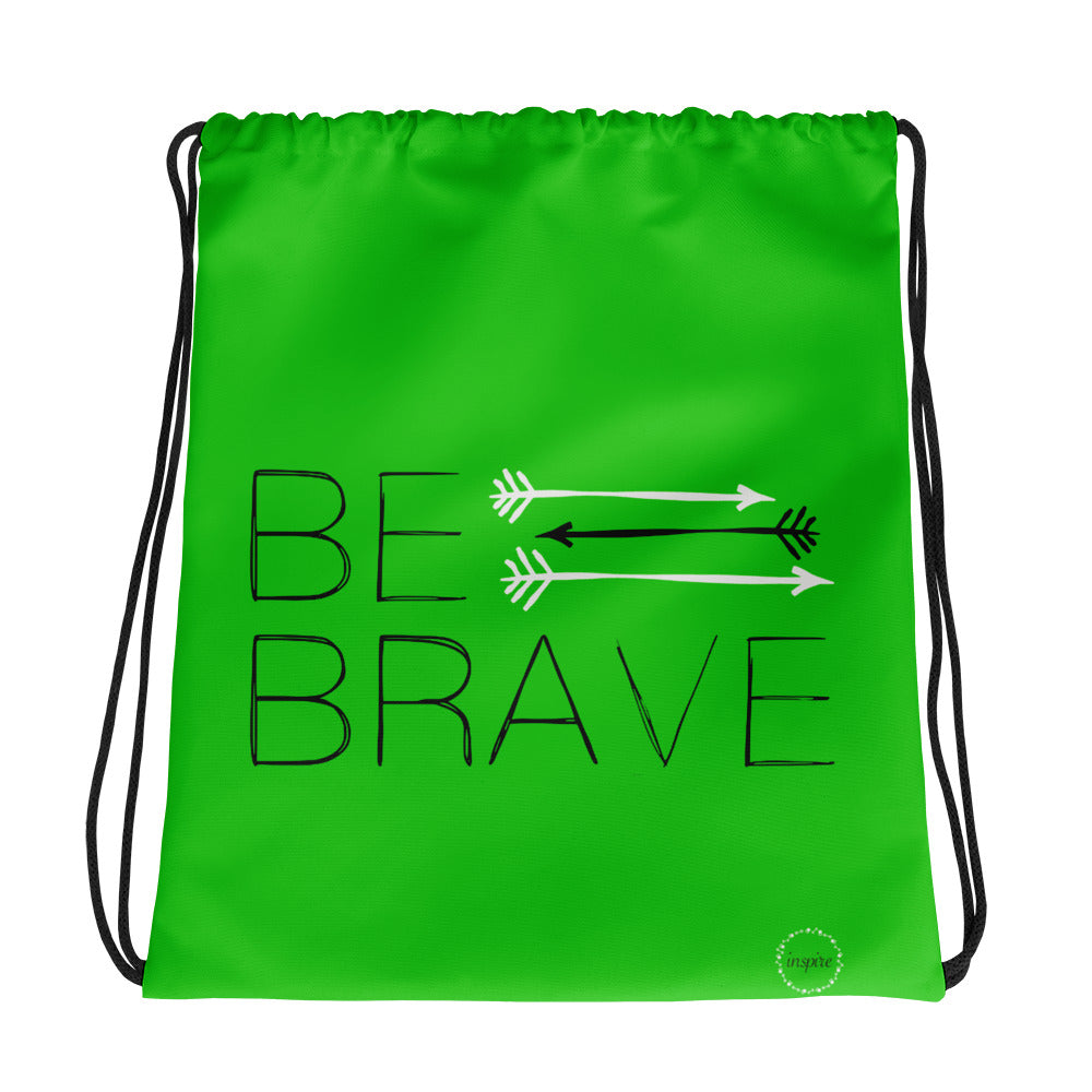 Light Green Drawstring bag