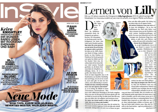 "Full Spread About Lilly Ingenhoven in ""InStyle"""