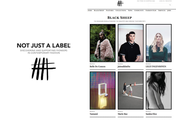 "Lilly Ingenhoven Selected as Black Sheep by ""Not Just a Label"""