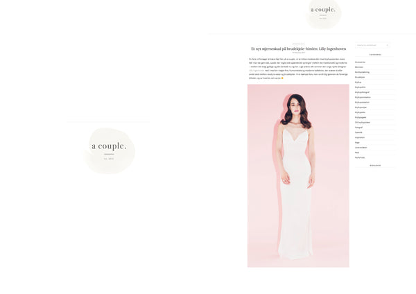 "Lilly Ingenhoven Bridal on ""a Couple"""
