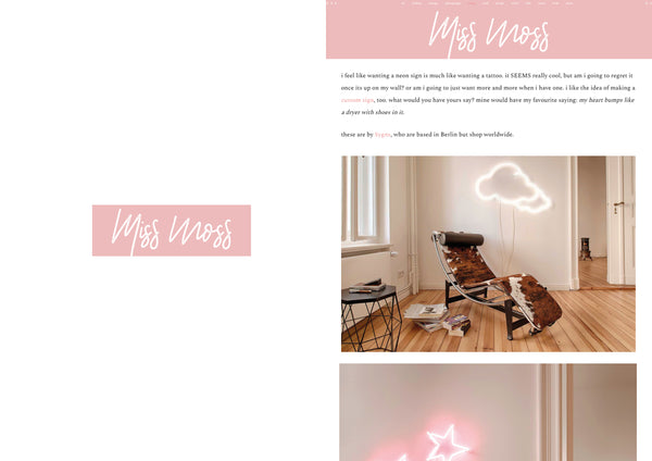 "Lilly Ingenhoven x Sygns on ""Miss Moss"""