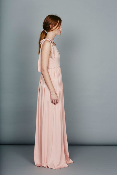 "Floor length dungaree dress ""Emilia"""