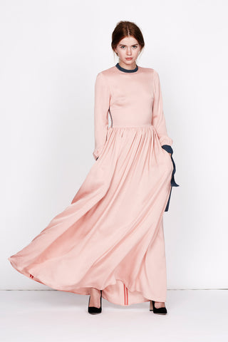 "Rose floor sweeping silk gown ""Emmi"""