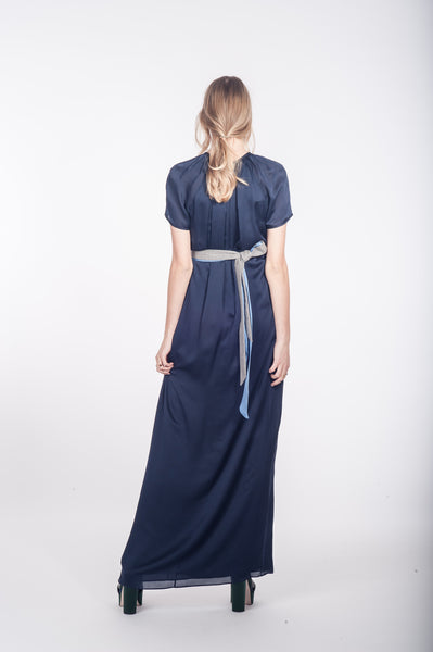 "Pleated Silk Gown ""Cleo"""