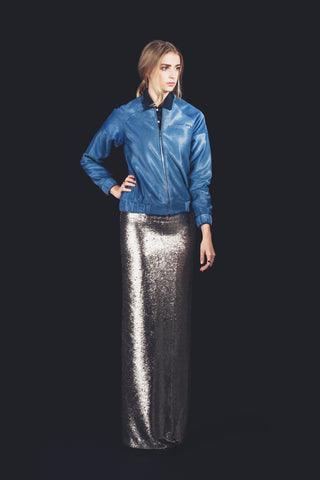 "Sequined Floor Length Pencil Skirt  ""Clea"""