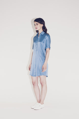 "silk shirt dress ""Barbie"""