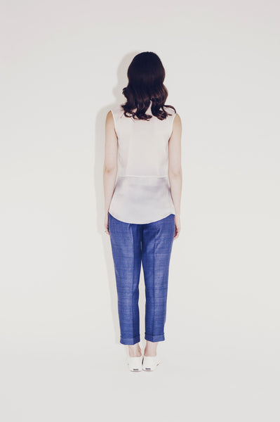 "Pleated silk pants ""Belle"""