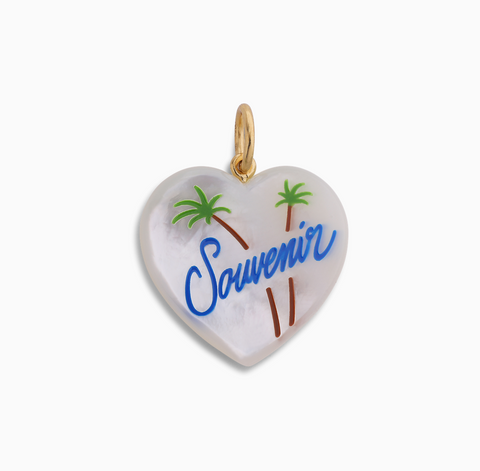 Souvenir Heart with enamel