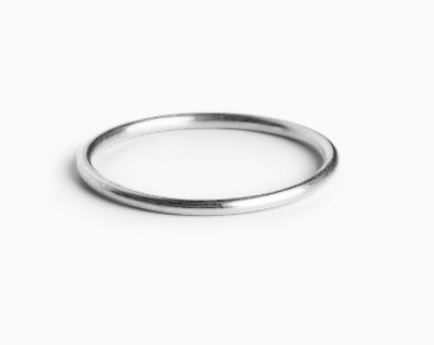 Simple ring in sterling silver