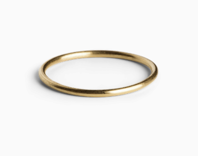 Simple ring in gold-plated silver
