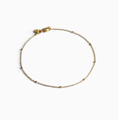 Bracelet in 18-carat Saturn chain