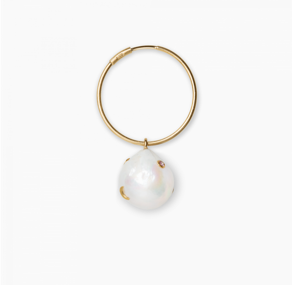 Baroque Pearl Earring Gold