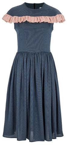 "Midi dress with ruffles ""Estella"""