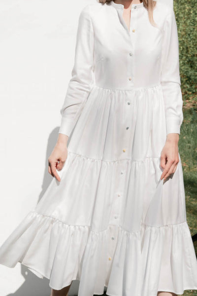 "White Cotton Dress ""Karo"""