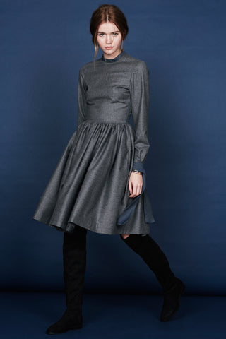 "Wool and silk dress ""Emmi"""