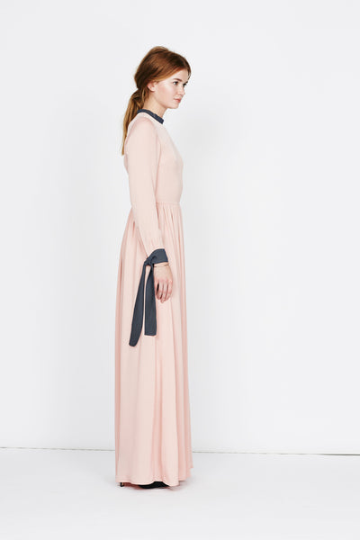 "Rose floor sweeping silk gown ""Emmi 2"""