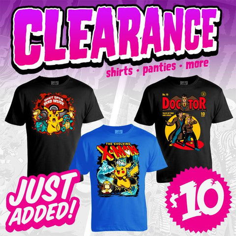 clearance pokemon doctor who walking dead xmen